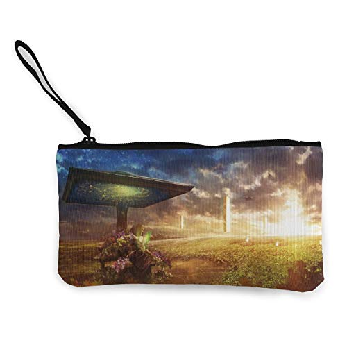 - Canvas Coin Purse Cosmic Eye Cosmetic Makeup Storage Wallet Clutch Purse Pencil Bag