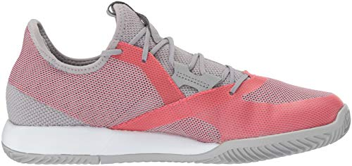 adidas Women's Adizero Defiant Bounce, Light Granite/Shock red/White 6 M US by adidas (Image #6)