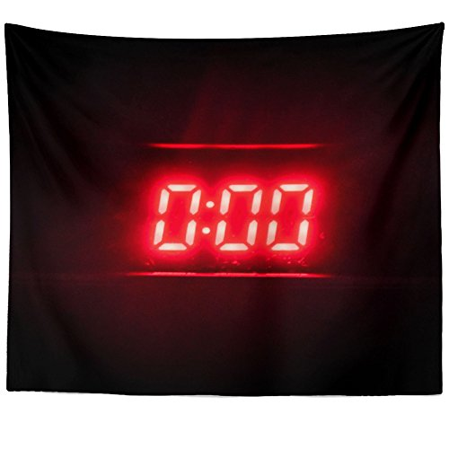 Westlake Art - Neon Clock - Wall Hanging Tapestry - Picture Photography Artwork Home Decor Living Room - 68x80 Inch (D41D8) (Neon Awesome Clock)