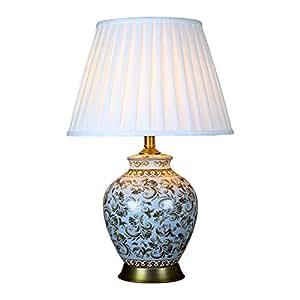 HZB American Modern Bedroom Bedside Cabinet Lamp, European Style Living Room Lamp, Hotel Project, Light Luxury Ceramic Lamp.