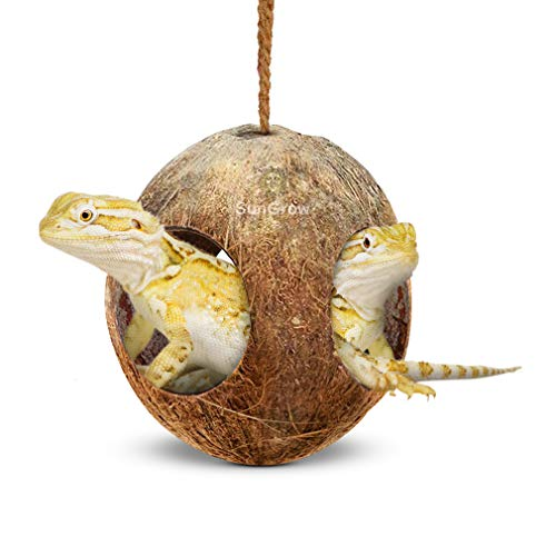 SunGrow Gecko 3-Hole Coco Den