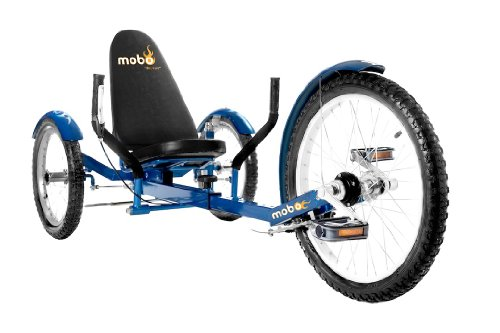 Mobo Cruiser Triton Pro Ultimate Three Wheeled Cruiser, Blue, 20-Inch