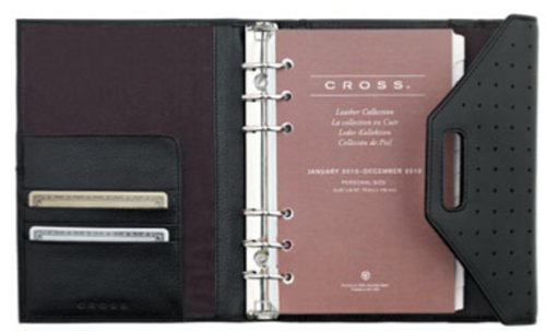 Cross Autocross Leather, Personal Agenda Calendar, Black - Agenda Cross Personal