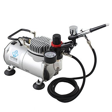 WST 110V,220V Dual Action Airbrush Compressor Kit for Airbrushing Tattoo Hobby Cake Decoration , 220v