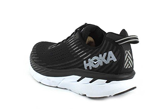 One Negro Synthetic Hoka One Hombre 5 Textile Blanco Entrenadores Clifton RnH5wxHZ6