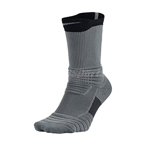 Nike Elite Versatility Crew Basketball Sock Cool Grey (065) / Black/ Cool Grey Large