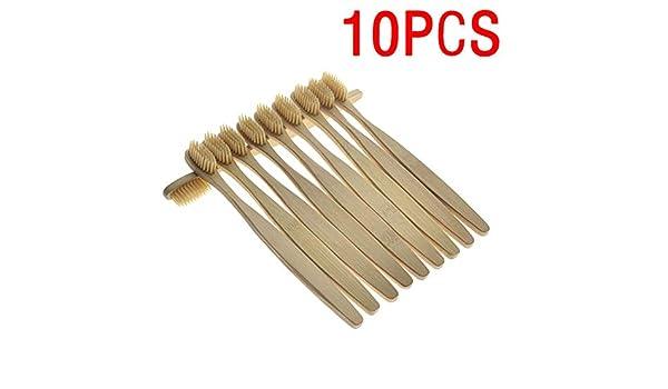 Cozywind 10 cepillos de dientes de bambú orgánico biodegradable orgánico suave de cuidado bucal, duraderos: Amazon.es: Salud y cuidado personal