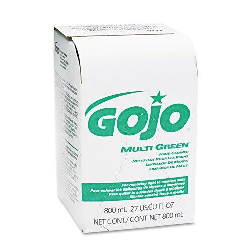 Antiseptic Soap 800 Ml Refills - GO-JO INDUSTRIES 917212EA MULTI GREEN Hand Cleaner 800mL Bag-in-Box Dispenser Refill
