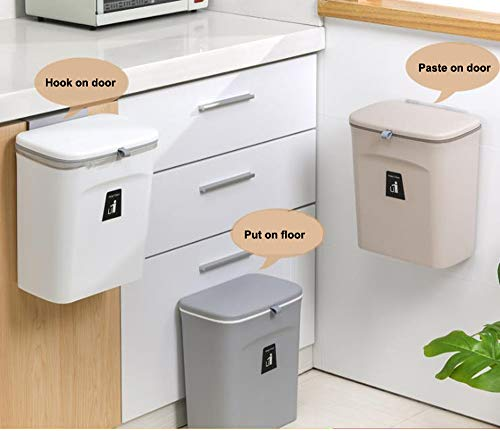 41Fx8SL oTL Curious Fish Wandküchenschrank Tür Hängende Tür Kunststoff-Mülleimer mit Deckel Schiebeabdeckung unter Waschbecken…