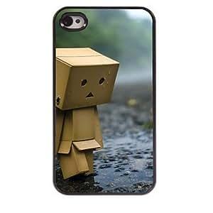 WQQ caso duro hombre de madera de agua de diseño de aluminio para el iphone 4 / 4s