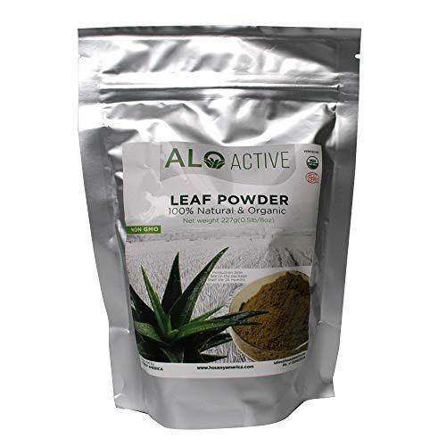 100% Organic Aloe Vera Leaf Powder Extract USDA 8OZ/227G/0.5LB