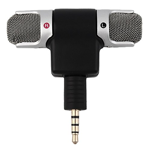 Portable Mini Mic Digital Stereo Microphone for Recorder PC Mobile Phone (Countertop Stereo)