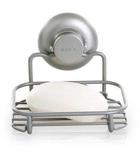 bino-smartsuction-rust-resistant-satin-nickel-shower-caddy-soap-dish