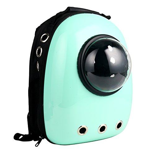 Yaetek Astronaut Pet Cat Dog Puppy Carrier Travel Bag Space Capsule Backpack Breathable  Light Green