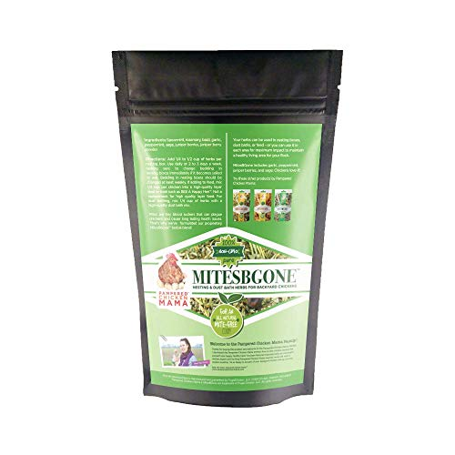 Pampered Chicken Mama Backyard Chicken Nesting Herbs - MitesBGone All-Natural Backyard Chicken Feed & Supplies to Protect Against Pests, Bugs, Insects & Vermin - Nesting Blend for Hens from Pampered Chicken Mama