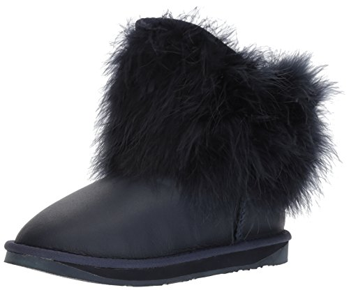Co Womens Ankle Midnight Weather Mongol Cold Round Sheep Skin Luxe Boots Toe wx1qw