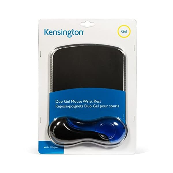 Kensington Duo Gel Mouse Pad with Wrist Rest - Blue (K62401AM)