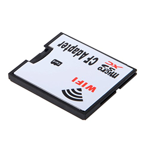 WIFI Adapter Memory Card TF Micro SD to CF Compact Flash Card Kit for Digital Camera (Microsd Wifi Card)