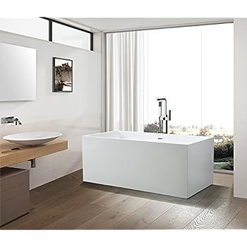 Vanity art bath free standing acrylic bathtub dimension 66 5 wx31 5 dx23 h va6813b l for Woodbridge 54 modern bathroom freestanding bathtub