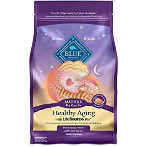 Blue Buffalo Healthy Aging Natural Mature Dry Cat Food, Chicken & Brown Rice 7-lb 92