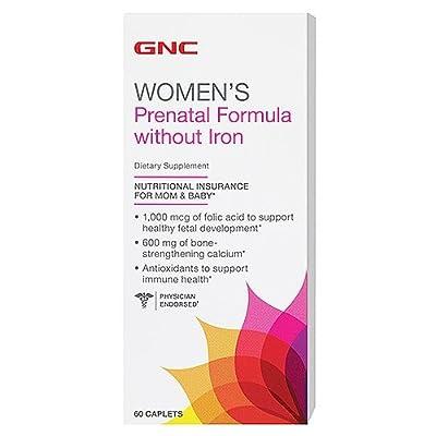 GNC Prenatal Formula Without Iron 60 Caplets