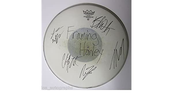 Framing Hanley REAL hand SIGNED band autographed 14 inch Drumhead by ...