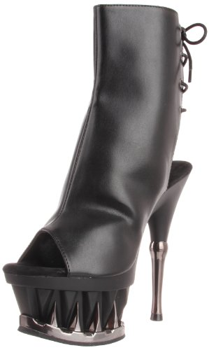 Pleaser Botas Mujer Faux Leather Blk Matte blk SpSqrZcPg