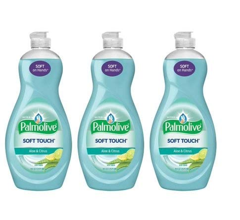 Detergent Palmolive Dishwashing (PACK OF 12 - Palmolive Ultra Soft Touch Dish Soap, Aloe and Citrus - 20 fl oz)