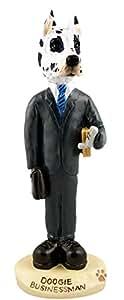 Great Dane Harlequin Businessman Doogie Collectable Figurine