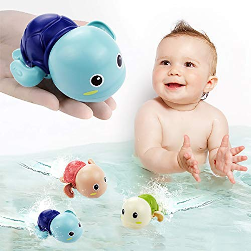 Bath Toys Bathtub Toys for 1 2 3 Year Old Boy Girl Cute Swimming Turtle Bath Toys for Toddlers 1-3, Gift for 1 year old Boy Girl 3pcs Set.