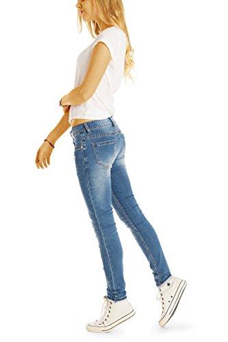 basse jean en taille slim jean fit Bleu femme j46k pantalon Bestyledberlin qwpE7R8R
