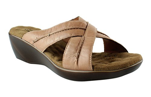 Walking Cradles Women's Chase Wedge Sandal, 8.5 M US, Tan Burnished (Burnished Leather)