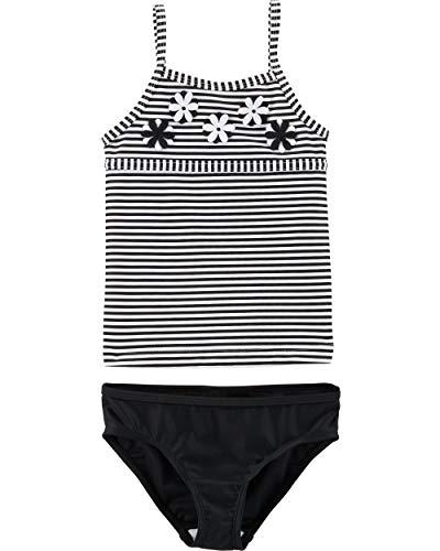 Carter's Toddler Girls' Two-Piece Swimsuit, Black Stripe, 5T