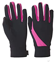 TrailHeads Elements Running Gloves - black / neon pink