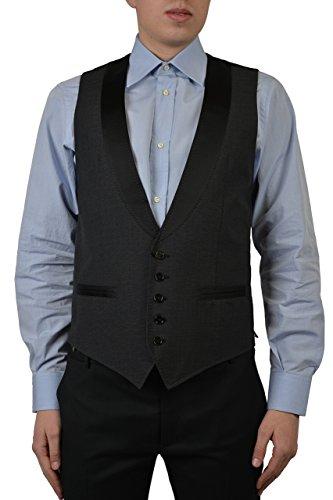 Dolce & Gabbana Gray Checkered Tuxedo Style Men's Vest US 38 IT 48 (Tuxedo Dolce Gabbana &)
