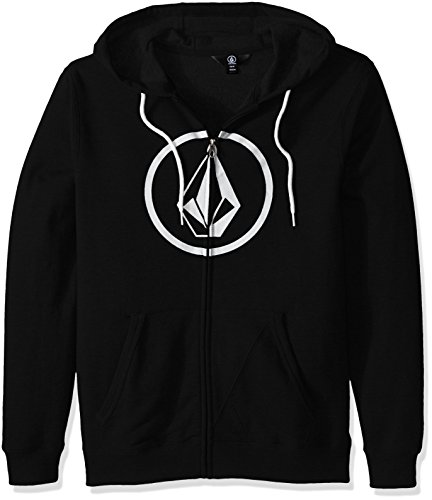 Volcom Men's Stone Zip Hoodie Sweatshirt, Black, M