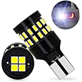 OXILAM 921 LED Bulbs Backup Reverse Lights Error Free 6000K Xenon White Extremely Bright with 30pcs 3014 SMD& 4PCS 3030 SMD Chipsets for Back Up Light Assemblies (2 Pack)