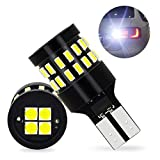 921 LED Bulbs Backup Reverse Lights Error Free 6000K Xenon White Extremely Bright with 30pcs 3014 SMD& 4PCS 3030 SMD Chipsets for Back Up Light Assemblies (2 PACK)