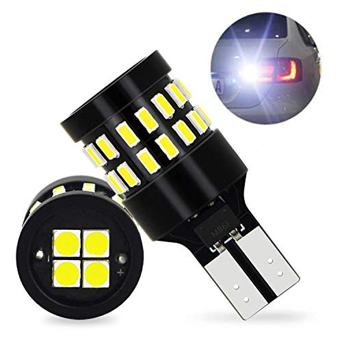 OXILAM 921 LED Bulbs Backup Reverse Lights Error Free 6000K Xenon White Extremely Bright with 30pcs 3014 SMD& 4PCS 3030 SMD Chipsets for Back Up Light Assemblies (2 Pack) ()