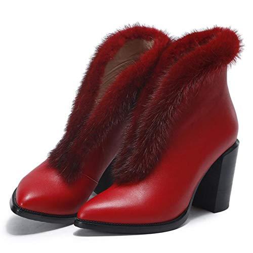 Stivali Red Stivali Stivali Autunno Sexy Stivali Alto Donna Donne Tacco Appuntito Caldo Bare Martin Stivali 8qO6wqP