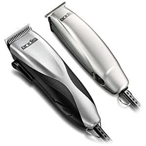 Andis Promotor+ 27-Piece Clipper/Trimmer Combo Haircutting Kit, Silver (29115)