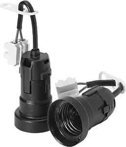 Houben 535785 - Casquillo de bombilla para construcción (E27, con pinza de tornillo)