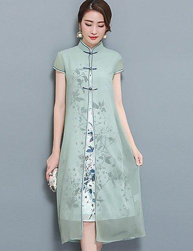 7ae285423037 DESY Spezzato Vestito da Donna-per Uscire Taglie Forti Stoffe orientali  Fantasia Floreale Colletto alla