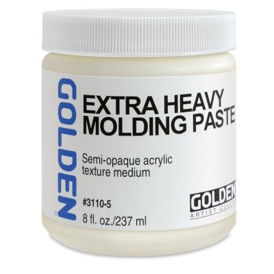 Heavy Gel - Acrylic Medium Golden Extra Heavy Gel/Molding Paste 8 oz