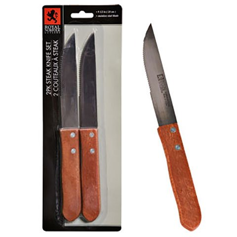 Royal Norfolk Stainless-Steel Steak Knives, Set of 4