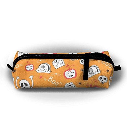 CHC40 Cute Spooky Ghost Pumpkin Halloween Decor Pen Bags Key Case Classroom Stationery Test Items Home Supplies Pen Boxes School Supplies Zipper (Upscale Halloween Decor)