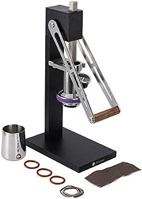 Cafetera, acero inoxidable, hierro, negro, extracción manual de la ...
