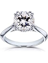 48ee812f4 Moissanite (FG) and Diamond Engagement Ring 2 7/8ct TCW in 14k White