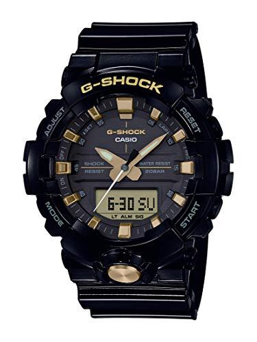 Casio Men's XL Series G-Shock Quartz 200M WR Shock Resistant Resin Color: Glossy Black and Gold (Model GA-810GBX-1A9CR)