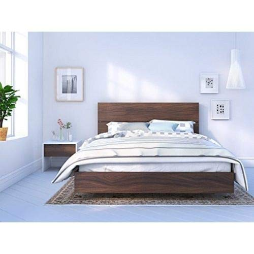 Nexera Identi-T 3 Piece Queen Size Bedroom Set White and Walnut by Nexera